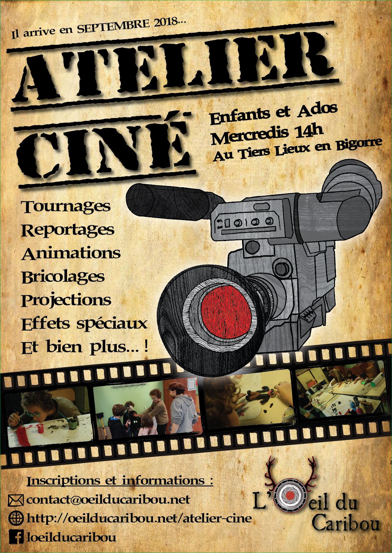 Affiche atelier cinéma